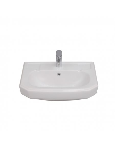 Frontline Hamilton 570mm Semi-Recessed Basin (2 Tap Holes)