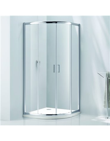 Frontline Aquaglass Purity 1000 x 800mm 2 Door Offset Quadrant Enclosure