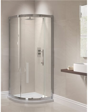 Frontline Prestige 1000 x 800mm 1 Door Offset Quadrant Enclosure
