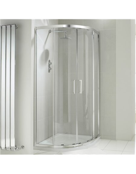 Frontline Aquaglass+ Drift 900 x 760mm 2 Door Offset Quadrant Enclosure