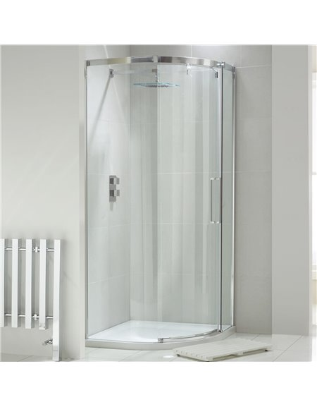 Frontline Aquaglass+ Luxury 900 x 900mm 1 Door Quadrant Enclosure