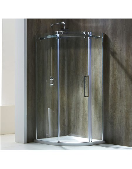 Frontline Aquaglass+ Frameless 800 x 800mm 1 Door Quadrant Enclosure